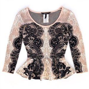 BCBGMaxAzria Gorgeous Silk Long Sleeve Blouse